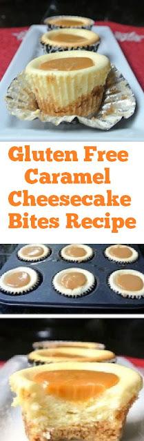 Gluten Free Caramel Cheesecake Bites #glutenfree #cheesecake #caramel #cheesecakebites