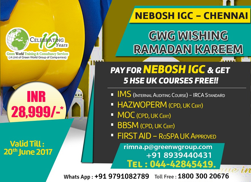 Such A Wonderful Health And Safety Training Institute Then Green World Group Is The Best Destination Most Famous NEBOSH
