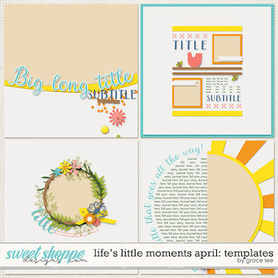 Life's Little Moments April: Templates