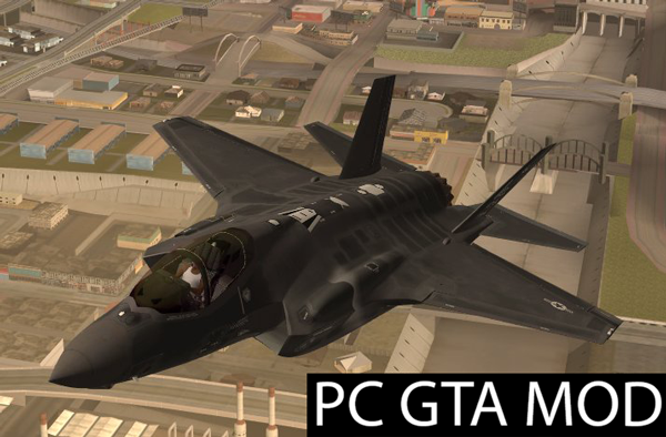 Free Download  Lockheed Martin F-35A Lighting II Mod for GTA San Andreas.