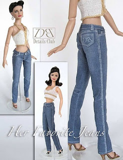 Calças Jeans Para Barbie Com Moldes