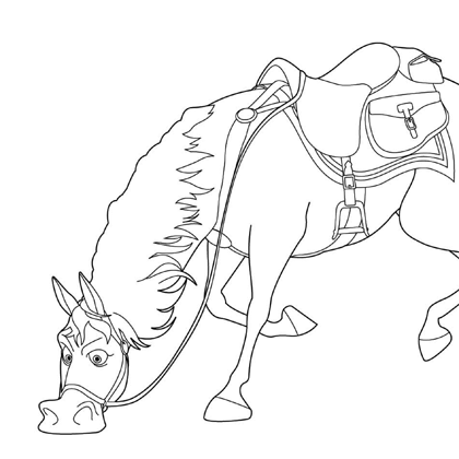 Coloriage Princesse Disney Maximus Cheval Coloriage Princesse