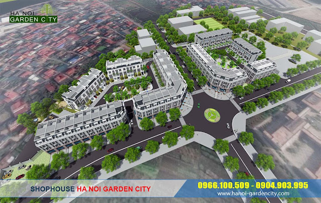 shophouse Ha Noi Garden City, Shophouse Eastern Park, shophouse Long Biên
