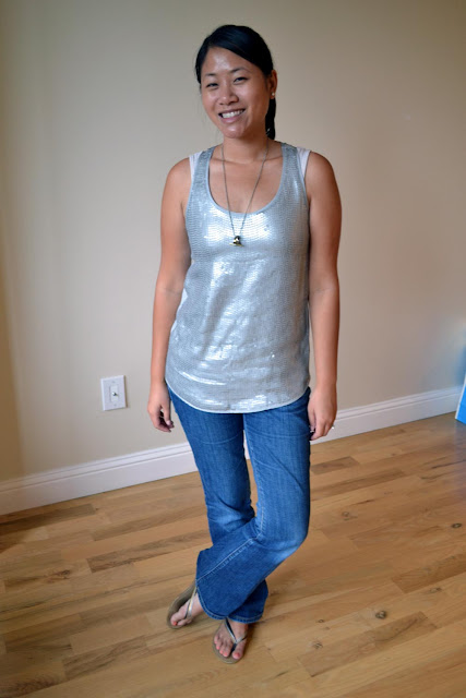 miami fashion blogger angeline evans the new professional banana republic monogram tank express jeans