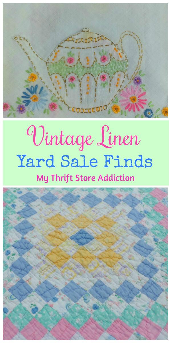 yard sale vintage linens