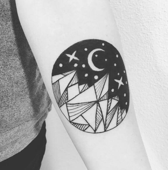 100 Best Moon Tattoos For Guys 2019 Phases With Meaning Tattoo