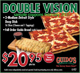 free Guidos Pizza coupons february 2017