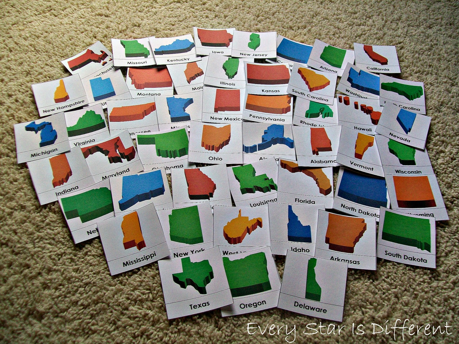 United States of America Nomenclature Cards (Free Printable)