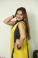Cute Actress Ashwini in Yellow Saree Exclusive  046.JPG
