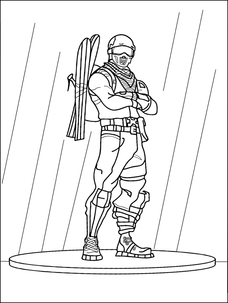 It is a photo of Epic Fortnite Printable Coloring Pages