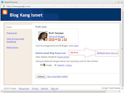 gambar cara menghapus blog yang diikuti (unfollow blog)