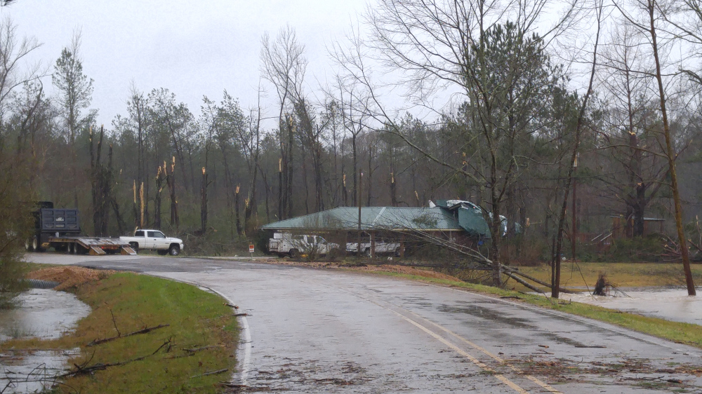 All in the Globe: Tornado storm in Mississippi produces