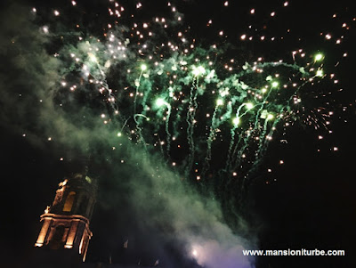 Fireworks at K'uinchekua (The Great Party of Michoacán)