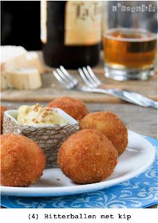 Bitterballen met kip, volgens bekende merk maakt (geserveerd warm of ingevroren)