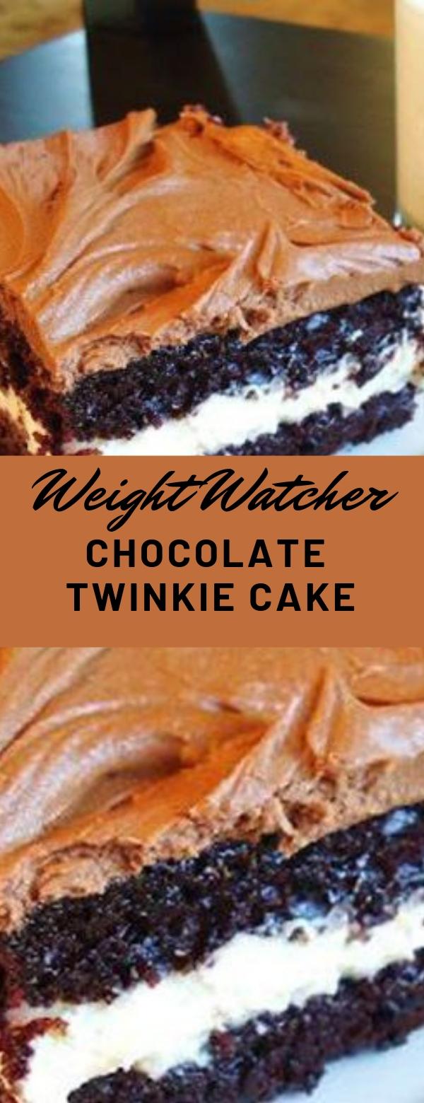 Weight Watcher Chocolate Twinkie Cake #weightwatcher #cake #dessert