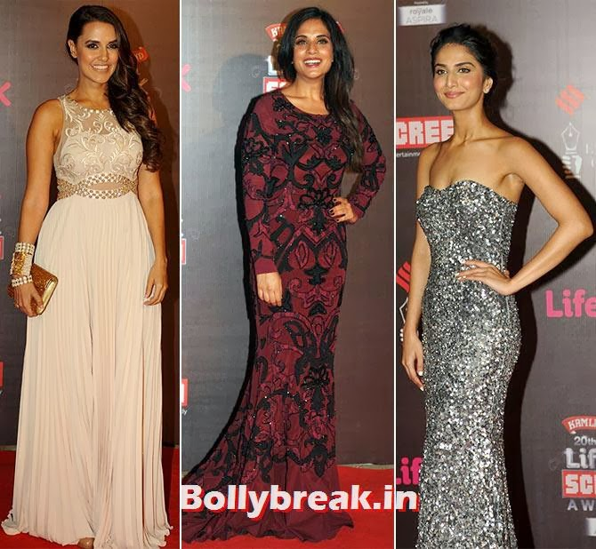 Neha Dhupia, Richa Chaddha and Vaani Kapoor, Life Ok Screen Awards 2014 Red Carpet Photos