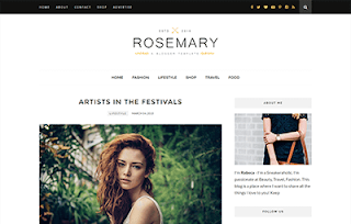Rosemary Minimal Blogger Template