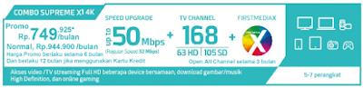 Paket Promo FIrst Media Combo Supreme X1 4K