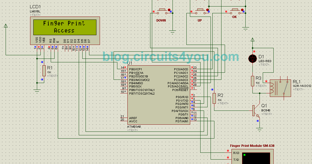Fingerprint Based Security System Circuits4you Com