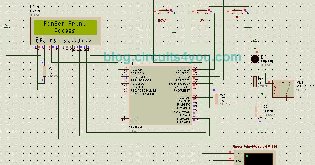 Fingerprint Based Security System Circuits4you Com