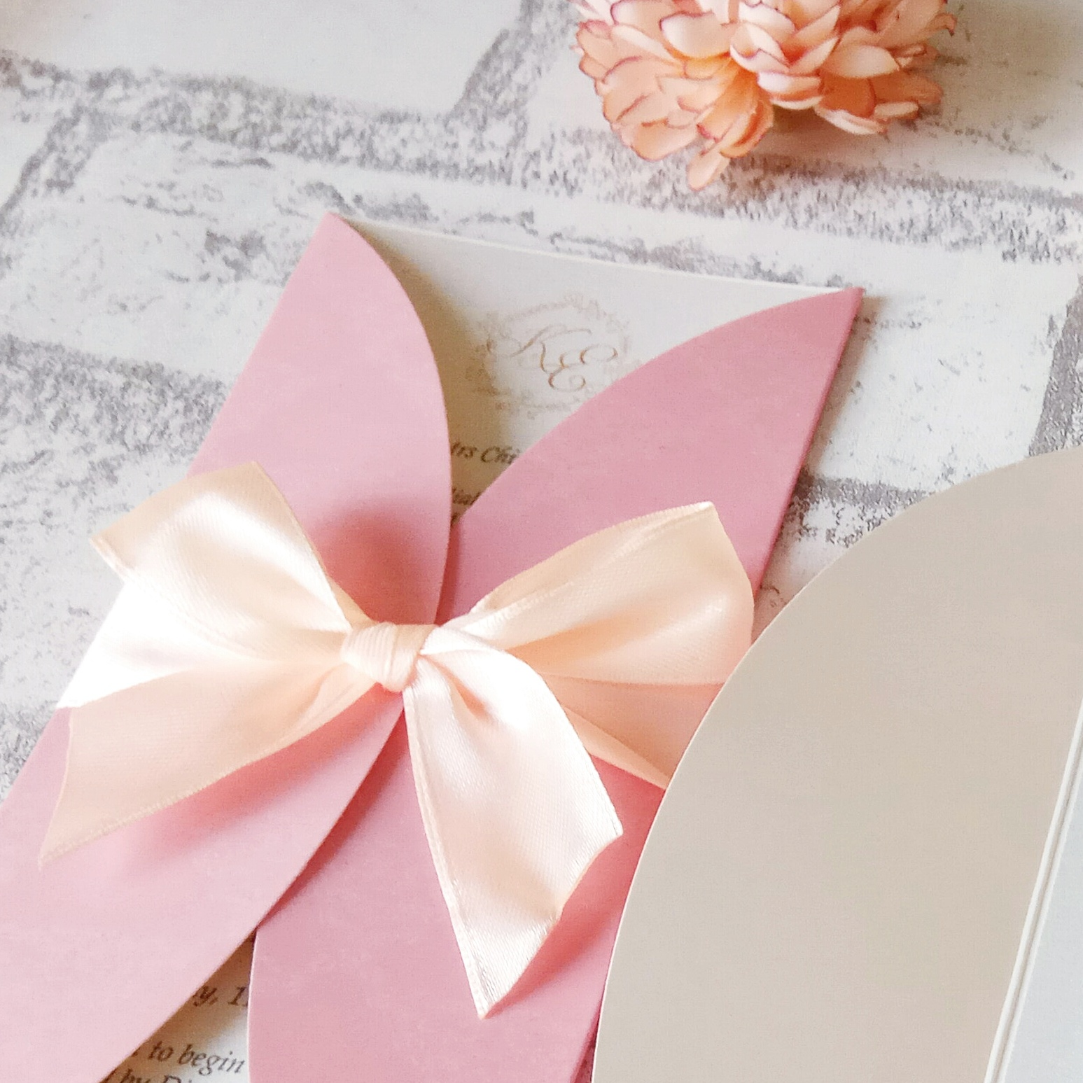 Wedding Card Malaysia   Crafty Farms Handmade : Sweet Peachy Pink ...