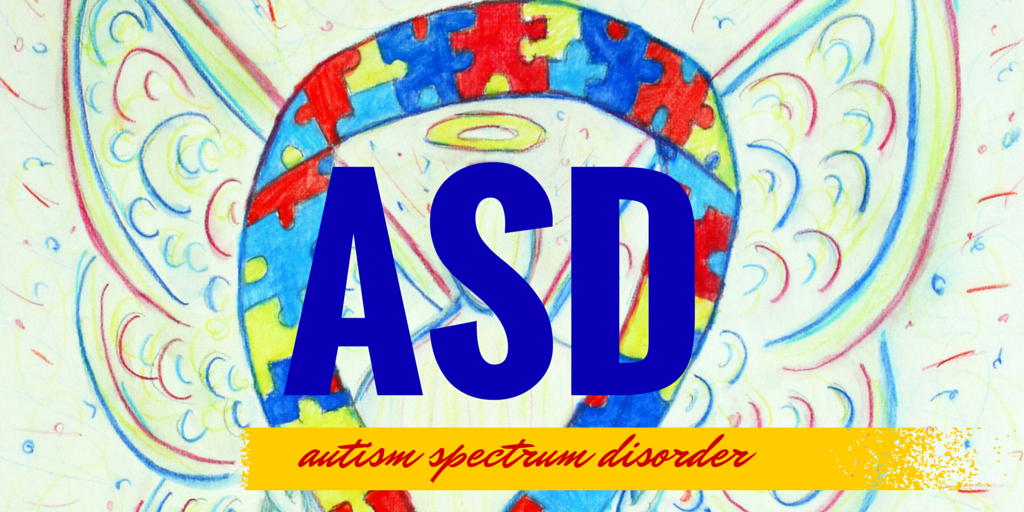 Twitter Autism Spectrum Disorder (ASD) Awareness Puzzle Piece Ribbon Angel Art Painting