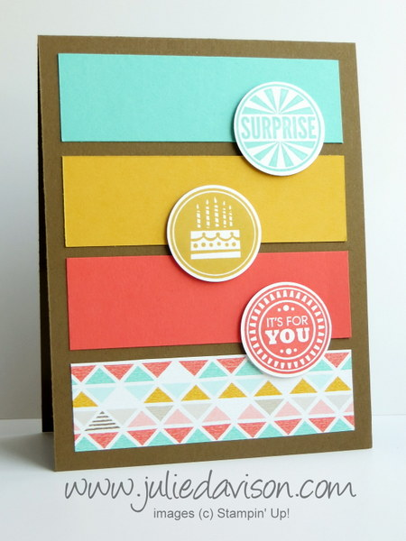 Makeover Monday: Amazing Birthday Panel Card #makeover #stampinup www.juliedavison.com
