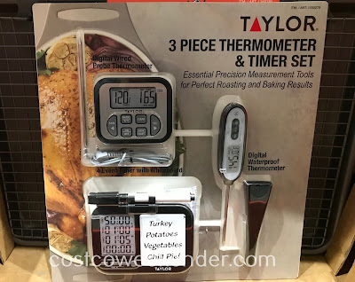 Ensure your meat is properly cooked with the Taylor 3-piece Thermometer and Timer Set