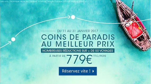Promo séjour tout compris à moins de 800 euros.