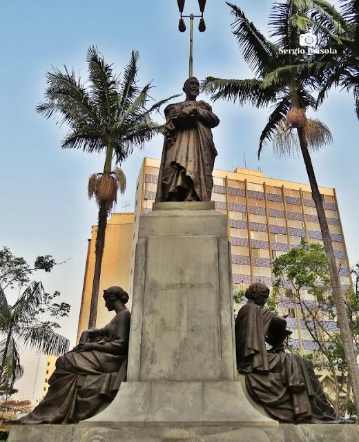 Close-up do Monumento Luiz Pereira Barreto - Santa Cecília - São Paulo