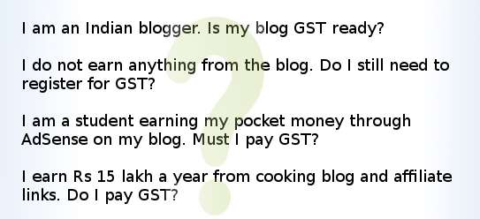 Indian blogs and GST