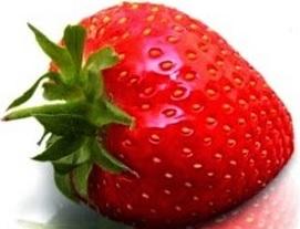 Fresa roja o fresa de color rojo