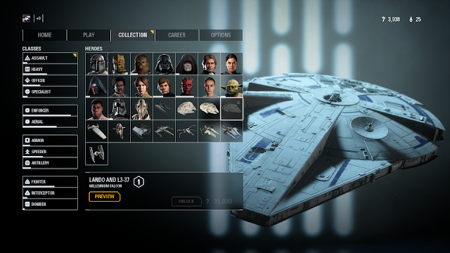 Cukup mengumpulkan credits, kalian bisa membeli karakter sampai kendaran.
