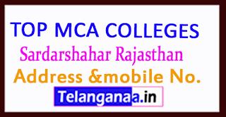 Top MCA Colleges in Sardarshahar Rajasthan