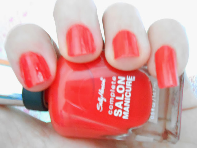 SALLY HANSEN COMPLETE SALON MANICURE 550 ALL FIRED UP