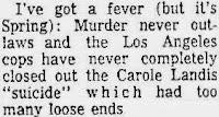 Carole Landis Murder