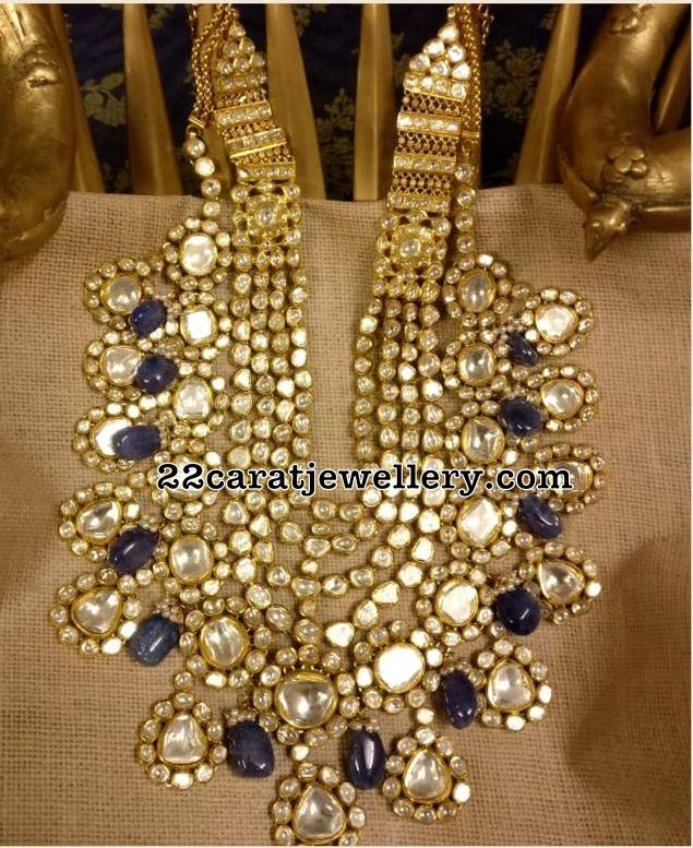 Bridal Jadau necklace by Krsala