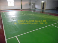 epoxy floor lapangan badminton