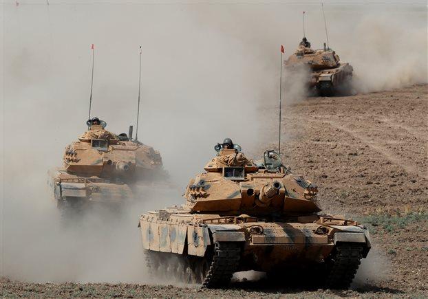 Στρατιωτικές δυνάμεις εντός της Συρίας προωθεί η Τουρκία