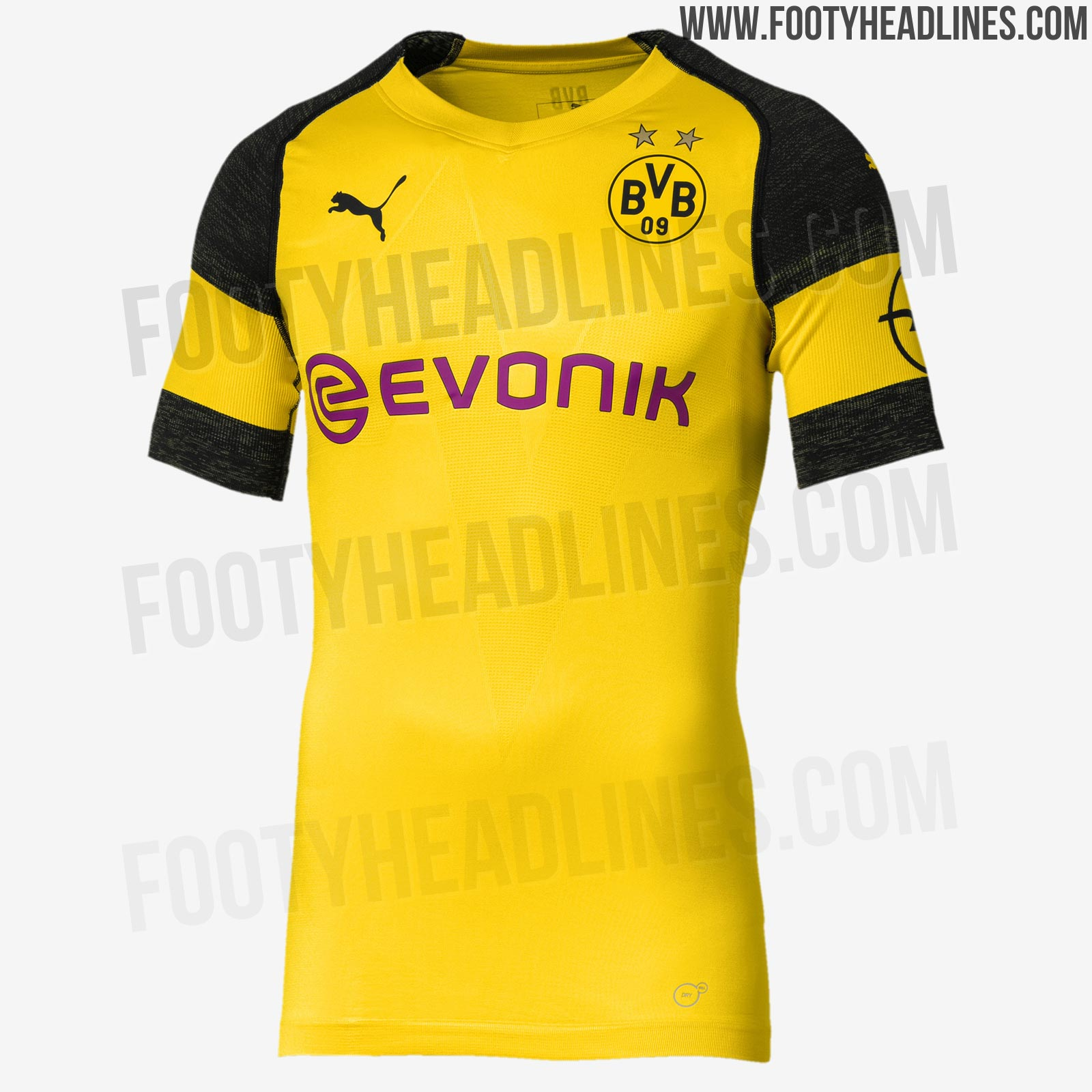 odd puma borussia dortmund 18 19 kit font released footy. Black Bedroom Furniture Sets. Home Design Ideas