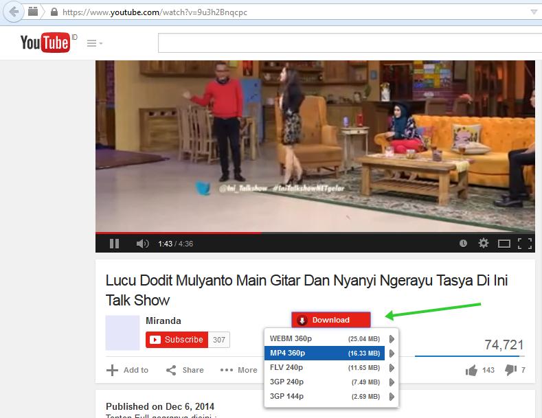 cara mendownload video dari youtube ke file laptop