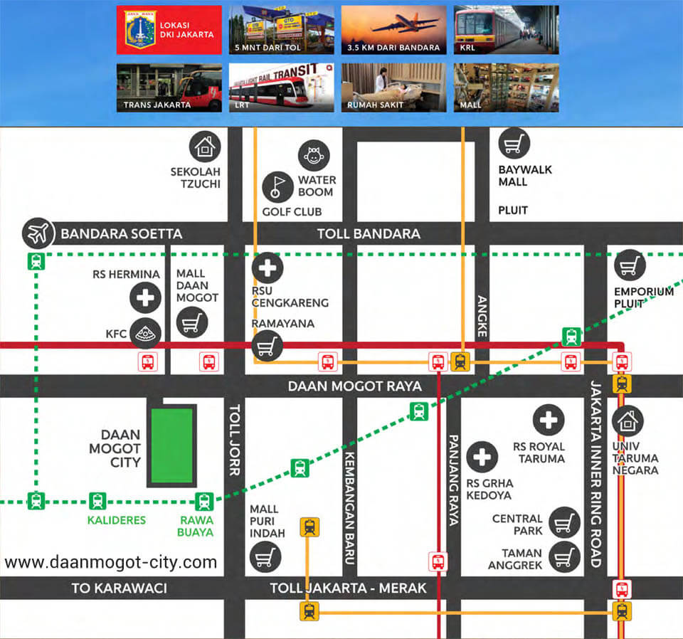 Lokasi Apartemen DAMOCI Jakarta Barat