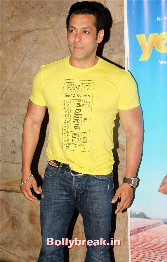 Salman Khan, Genelia D Souza, Salman Khan at Special Screening of Film Yellow