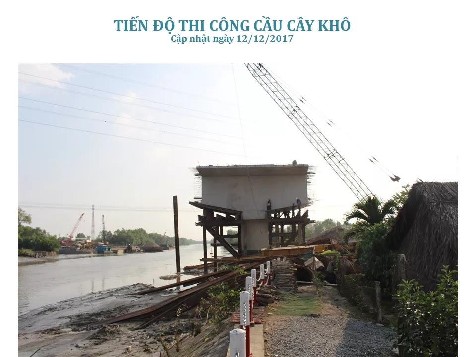 Tiến độ thi công cầu cây khô dự án Nhơn Đức Nhà Bè