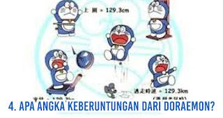 Apa angka keberuntungan dari Doraemon?