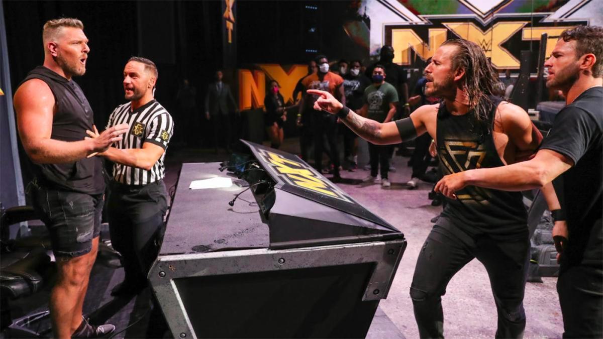 Adam Cole e Pat McAfee supostamente fizeram sua  luta no NXT TakeOver partindo do improviso
