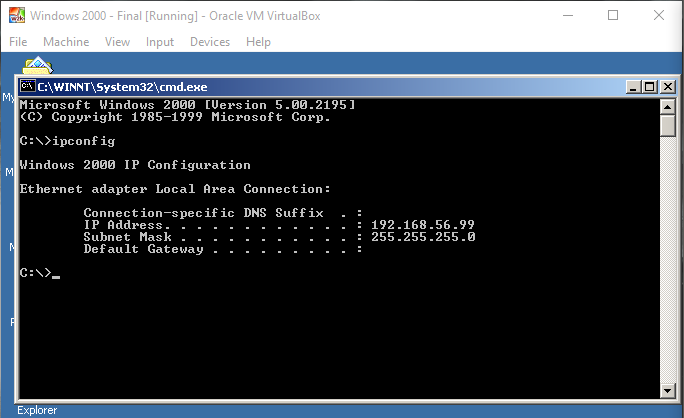 Linux ipconfig