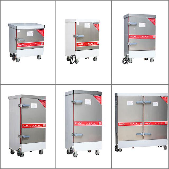 Các loại tủ nấu cơm công nghiệp 2018 dùng điện