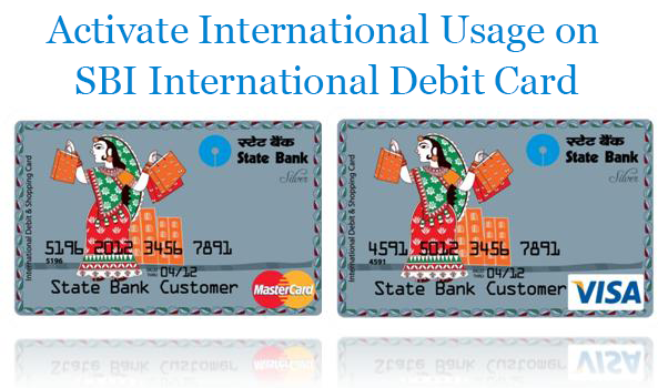 How to activate International payment usage on SBI debit