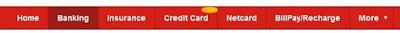 Kotak Mahindra Internet Bank - Banking Tab